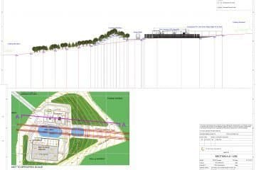 cross sectional plan, ninfield, east sussex, cad drawings