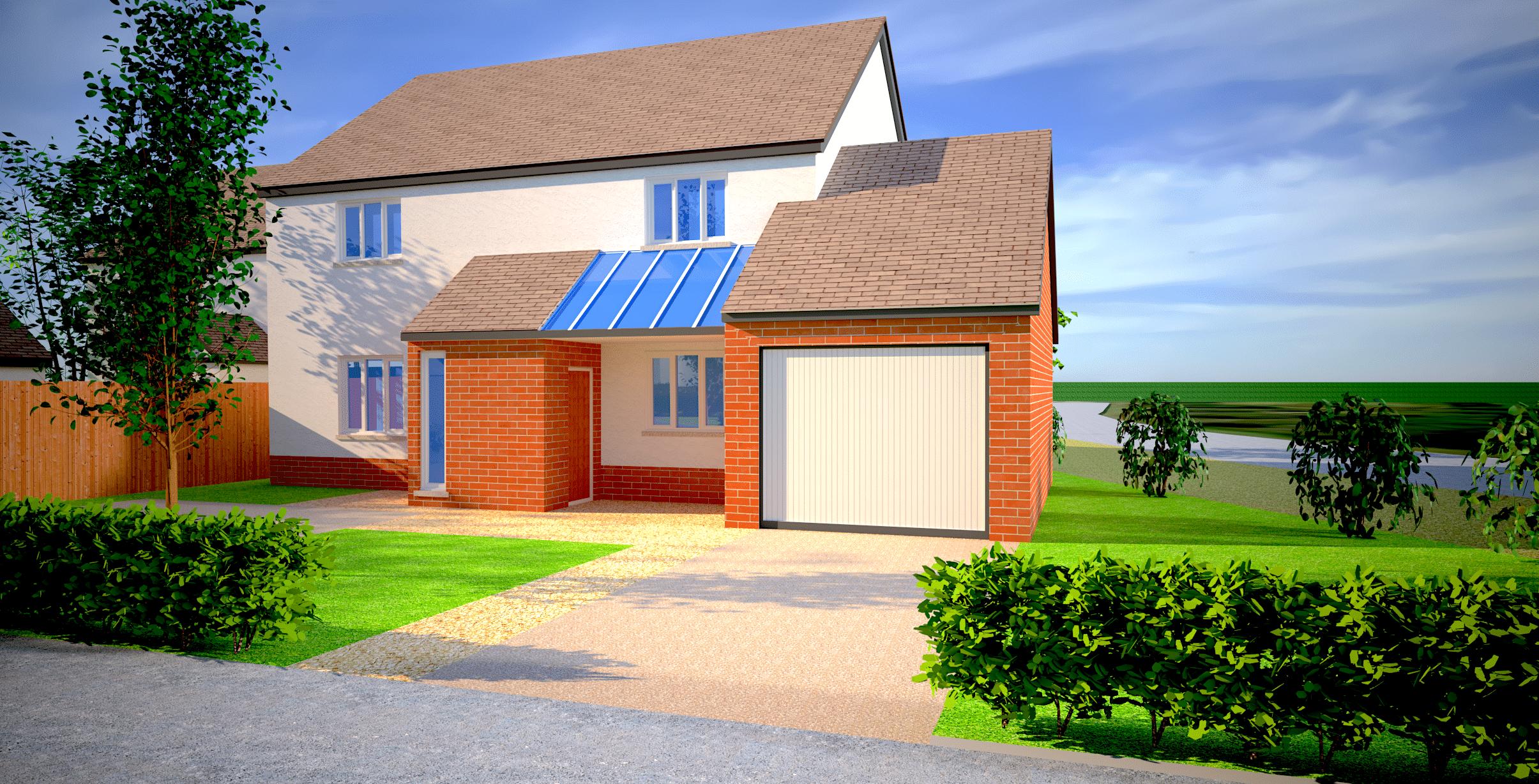 ebbw vale housing development 3d visuals