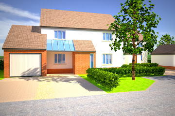ebbw vale housing development 3d visualisations